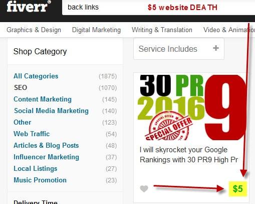 ranking lawn business website